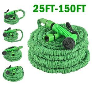 25-150-FT-Long-Retractable-Expandable-Magic-Garden-Hose-Pipes-With-Spray-Gun