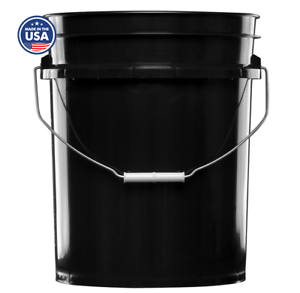 Food grade Made in USA House Naturals 5 Gal Black Bucket BPA Free Pack of 3