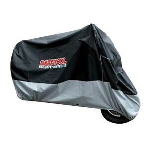 Datatool-Motorcycle-Security-Cover-In-Black-Grey-Size-Large
