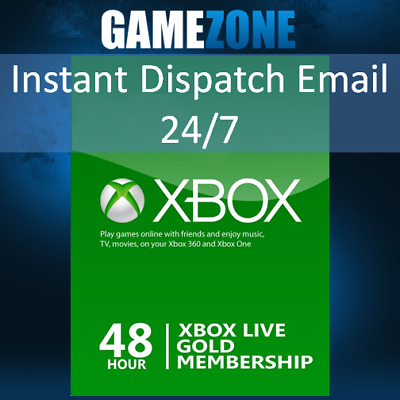 Xbox LIVE 48 Hours 2 Days Trial Gold Membership For Microsoft Xbox One Xbox 360