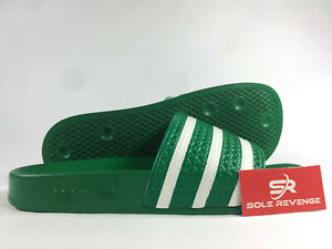 2d2c84f46 8 Men Adidas ADILETTE Slides Sandals Mens Green White Beach Flip ...