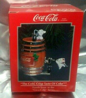 NOS The Cold Crisp Taste of Coke Christmas Ornament  Coca Cola Enesco
