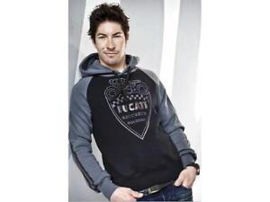 DUCATI-RETRO-Sweatshirt-mit-Kapuze-Pullover-Hoodie-schwarz-grau-NEU