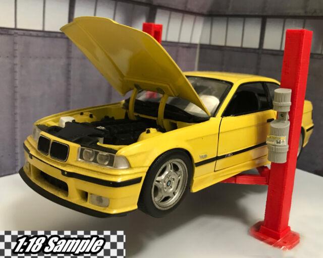 2 Post Hydraulic Car Lift 1/24 & 1/18 Diorama Garage Scale Accessory for  Diecast