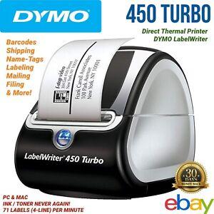 DYMO-LabelWriter-450-Turbo-Thermal-Label-Printer-Inkless-Barcode-Shipping-PC-Mac