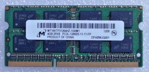 Micron 4GB 2Rx8 PC3L-12800S DDR3 Laptop SDRAM MT16KTF51264HZ-1G6M1