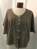 Judith Van Zant Handwoven Lined One Size Tweed Blazer / Jacket