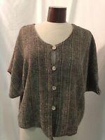 Judith Van Zant Handwoven Lined One Size Tweed Blazer / Jacket