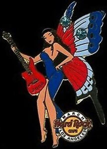 Hard-Rock-Cafe-LOS-ANGELES-March-2006-Butterfly-Birthstone-FAIRY-Girl-PIN-3-12