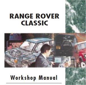 range rover classic workshop manual v8 engine gearbox overhaul rh ebay co uk Thermostat 1995 Range Rover Classic Range Rover 3 9 Engine