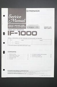 Details about Pioneer IF-1000 Original Service Manual/Guide/ Wiring on