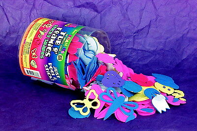 School Specialty Bugs and Flowers Tub O Foamies Sticky Shapes, Assorted Color...