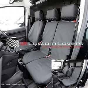 FORD TRANSIT CONNECT 2014 + TAILORED & WATERPROOF FRONT SEAT COVERS - BLACK 119