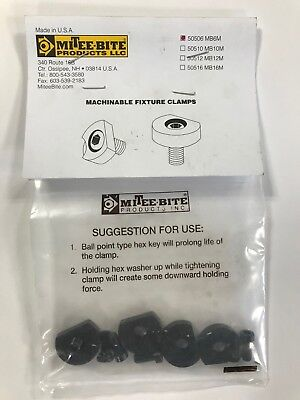 Pack of 4 1//2-13 MiTee-Bite Products 10508 Machinable Fixture Clamp
