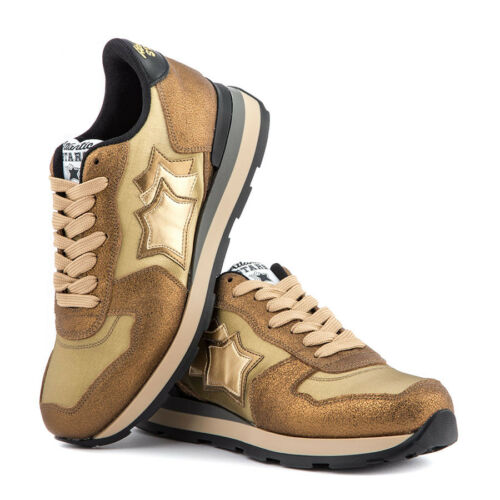 Vega Atlantic E Stars Made Oro Pelle 79n In Ob Italy Sneakers Donna Nylon Bw04Bqr