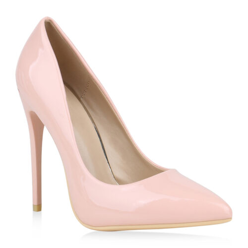 Spitze Damen Pumps Lack High Heels Stilettos Klassische 820060 Schuhe