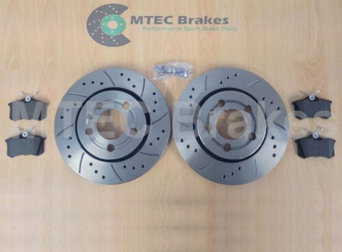 AUDI TT 1.8T 225bhp 99-05 Delantero Trasero Mtec Perforado Ranurado Discos De Freno /& Almohadillas