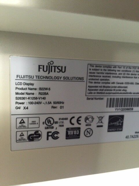 Fujitsu, fladskærm, B22W-5