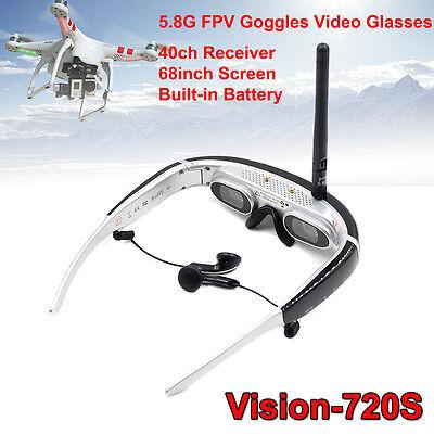 "5.8G 40CH FPV Goggles HD Video Glasses 68"" for H502S H501S Drone Walkera 250"