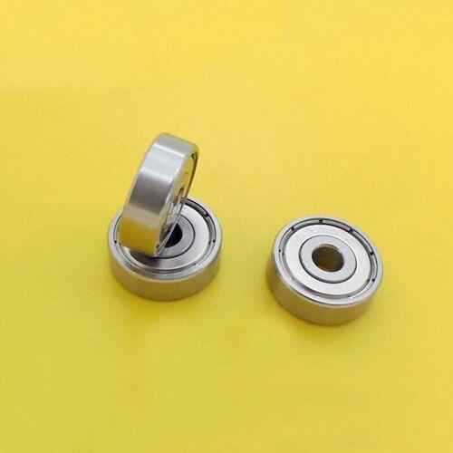 10pcs Edelstahl Metall Abgeschirmt Ball Lager S635ZZ 635-2RS 5 x 19 x 6mm