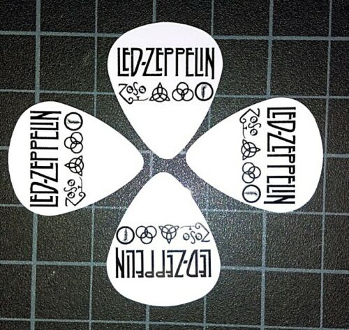 LED ZEPPELIN ZOSO LOGO SYMBOLS CUSTOM GUITAR PICKS SET OF 4