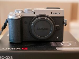 Panasonic-Lumix-GX8-Body-only-Silver-Excellent-Condition