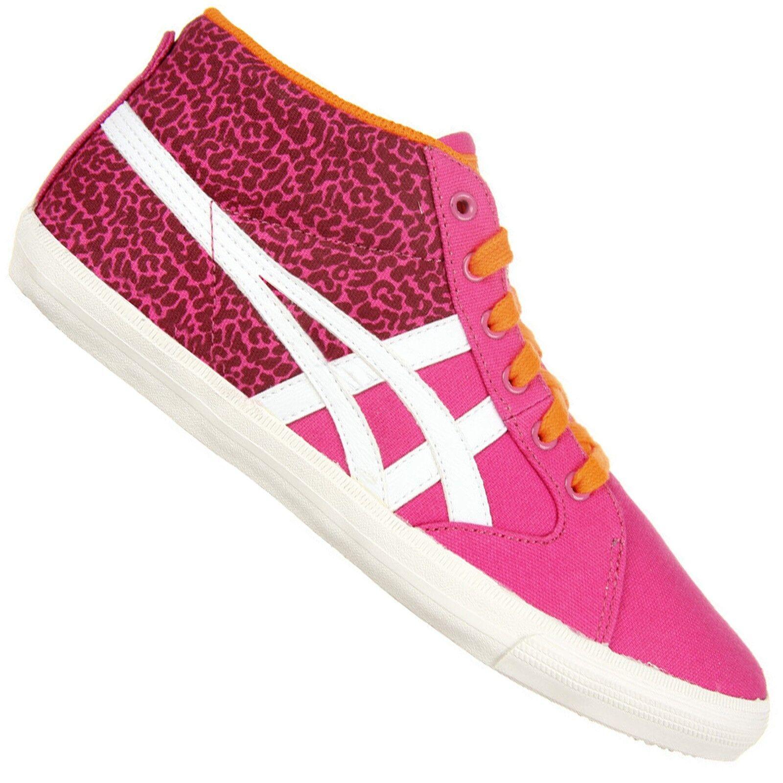 ASICS Onitsuka Tiger Farside Mid Top Sneaker Scarpe Mexico 66 LEOPARD ROSA NEON