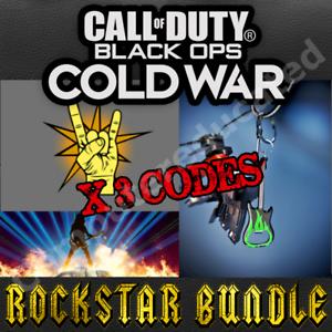 Call Of Duty Black Ops Cold War Rockstar Weapon Charm, Emblem & Calling Card DLC