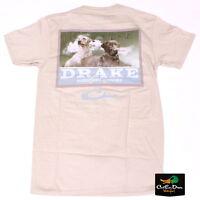 Drake Waterfowl Southern Collection Black And Yellow Lab T-shirt Tan Xl