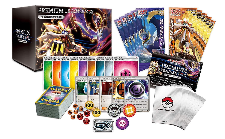 Nuevo Pokemon Juego de Cartas Sol & Moon Premium Entrenador Caja Pack de Mejora