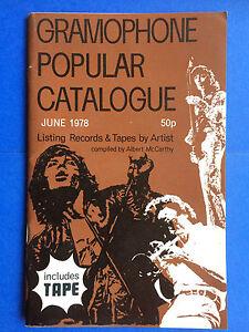 Gramophone Popular Catalogue June 1978 Vinyl Lp Record Guide Book