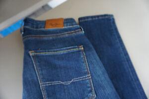 Pepe-Jeans-Regent-Skinny-Slim-Stretch-Trousers-High-Waist-28-34-W28-L34-Blue