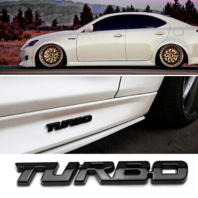 Chrome Metal Turbo Pattern Car SUV Decal Emblem Badge Tailgate Rear Door Sticker