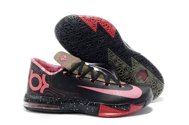 Nike Zoom KEVIN DURANT KD VI 6 METEOROLOGY BLACK PINK RED OLIVE 599424-006