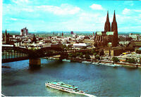 Köln am Rhein , Dom und Hohenzollernbrücke ; Ansichtskarte , gelaufen