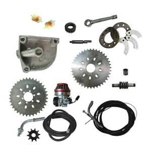 36-40T-Sprocket-Carburetor-Gear-Mount-Kit-Shaft-Filter-66-80cc-Motorized-Bike