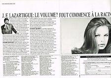 PUBLICITE ADVERTISING  1993   J.F  LAZARTIGUE   coiffeur  (2 pages)