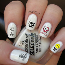 Keep Calm And Fuck-Off Middle Finger Cartoon Nail Art Waterslide Decals  GNR