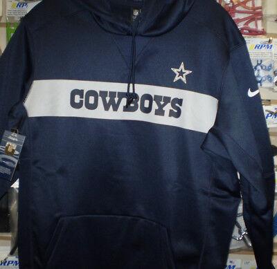 NFL Dallas Cowboys Nike Sideline Therma Pull Over Hoodie Sweatshirt M MED NEW