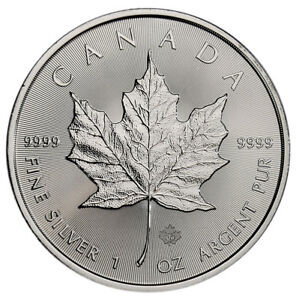2019-Canada-1-oz-Silver-Maple-Leaf-5-Coin-GEM-BU-SKU55534