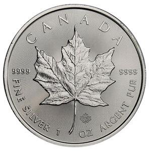 2019 Canada 1 oz. Silver Maple Leaf $5 Coin GEM BU SKU55534