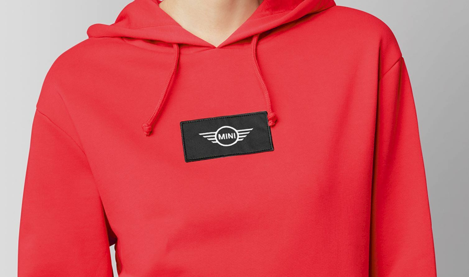 Official MINI Cooper Wing Logo Patch Women's Hooded Sweatshirt Coral XXS - XL
