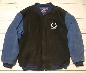 Indianapolis-Colts-Pro-Player-Heavy-Suede-Jacket-Size-XL-Embroidered