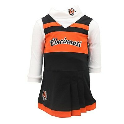 42a43975 Cincinnati Bengals NFL Infant & Toddler Girls Size 2-Piece Cheerleader  Outfit | eBay