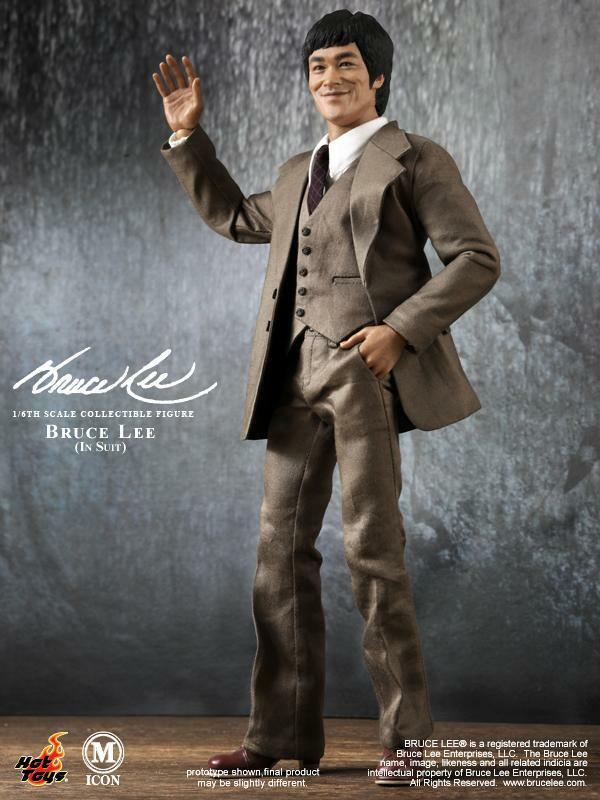 Hot Toys HT MIS11 1 6 Bruce Lee In In Suit Version Action Figure Model 12