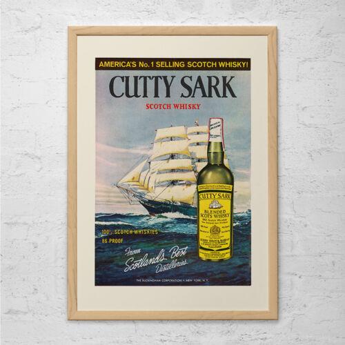 VINTAGE CUTTY SARK Ad Retro Mid-Century Ad 1950/'s Retro Vintage Whiskey Ad