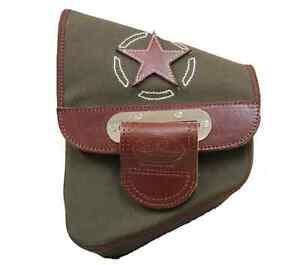 LaRosa All Softail Models Classic Black Leather Left Side Saddle Bag
