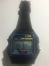 Reloj de pulsera, Digital F-91W Black, Relojes, Cronometro