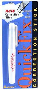 Avery-Quickfix-Non-Liquid-White-Solid-Correction-Fix-Pen