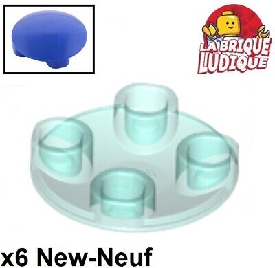 Round Plate 2x2 Inverted NEUF NEW 6 x LEGO 2654 Plaque Ronde Inversée tan